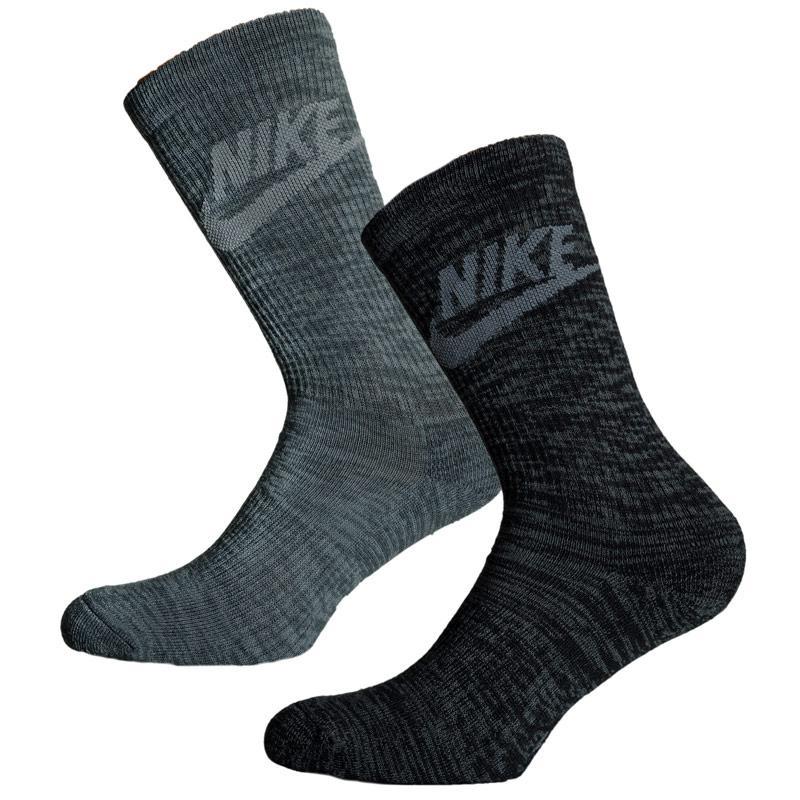 Ponožky Nike Sportswear Advance 2 Pack Crew Socks Black Grey