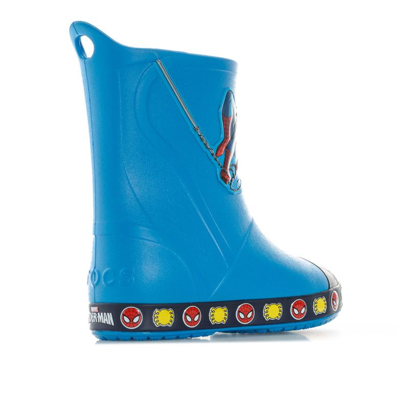Crocs Children Boys Bump It Spiderman Welly Blue