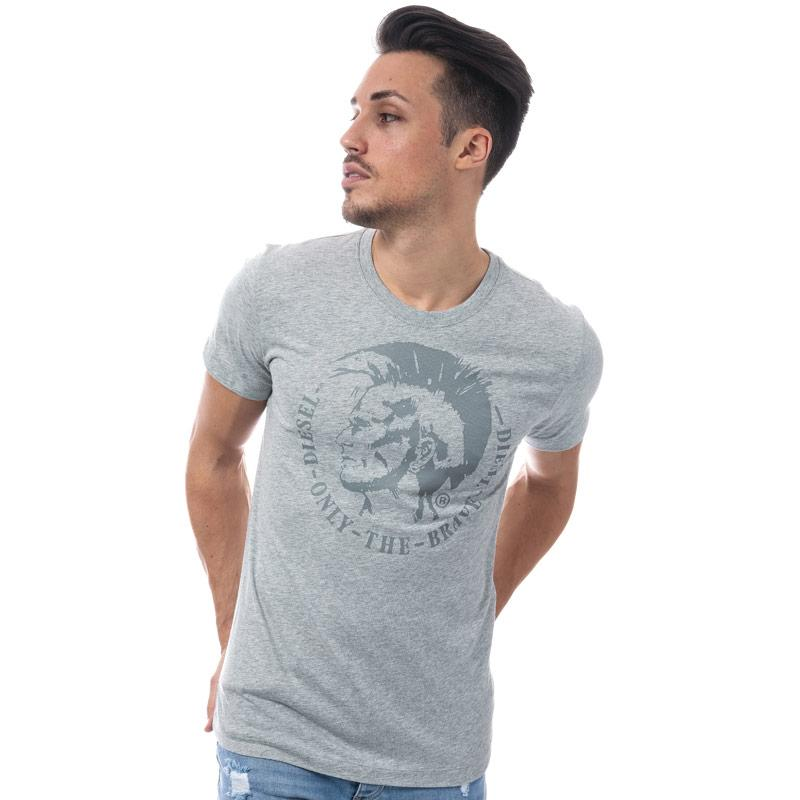 Tričko Diesel Mens T-Head Crew Neck T-Shirt Light Grey