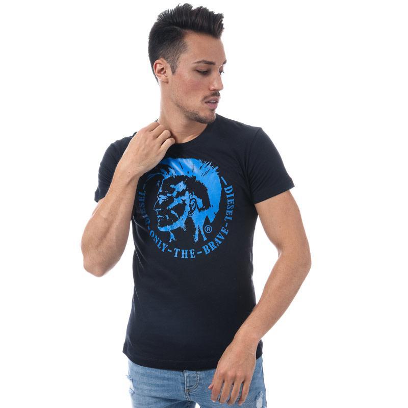 Tričko Diesel Mens T-Head Crew Neck T-Shirt Black