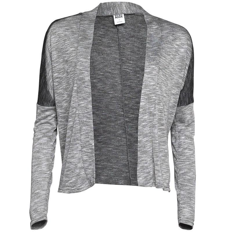 Svetr Vero Moda Womens Firenza Filippa Cardigan Light Grey Melange