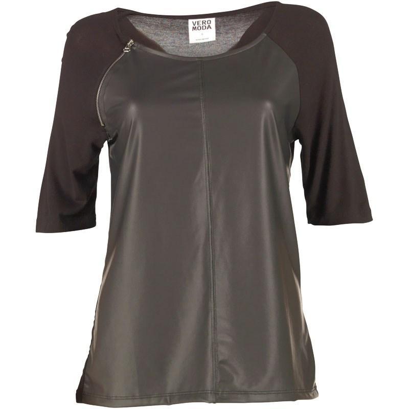 Vero Moda Womens New Wang Zip Top Black