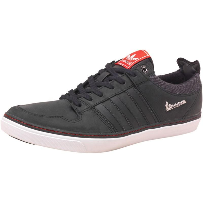 Boty adidas Originals Mens Vespa GS II Lo Trainers Black/Black1/Poppy