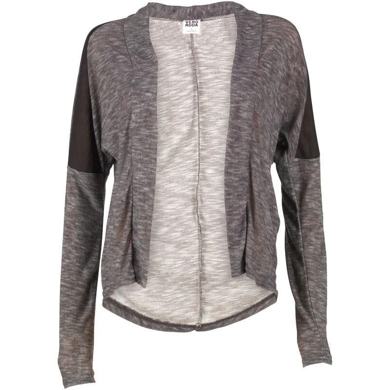 Svetr Vero Moda Womens Firenza Filippa Cardigan Dark Grey Melange