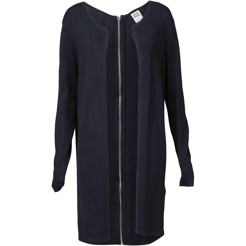 Svetr Vero Moda Womens Abigail Long Sleeve Zipper Cardigan Black