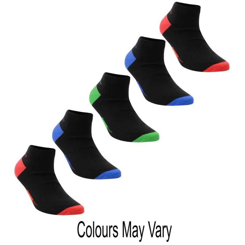 Ponožky Slazenger 5 Pack Trainer Socks Bright Asst