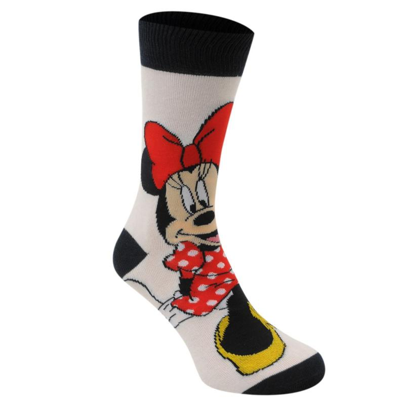 Disney 3 Pack Crew Socks Ladies Minnie