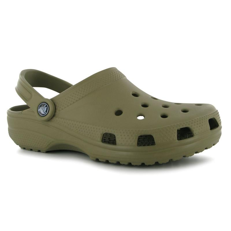 Crocs Classic Mens Sandals Khaki