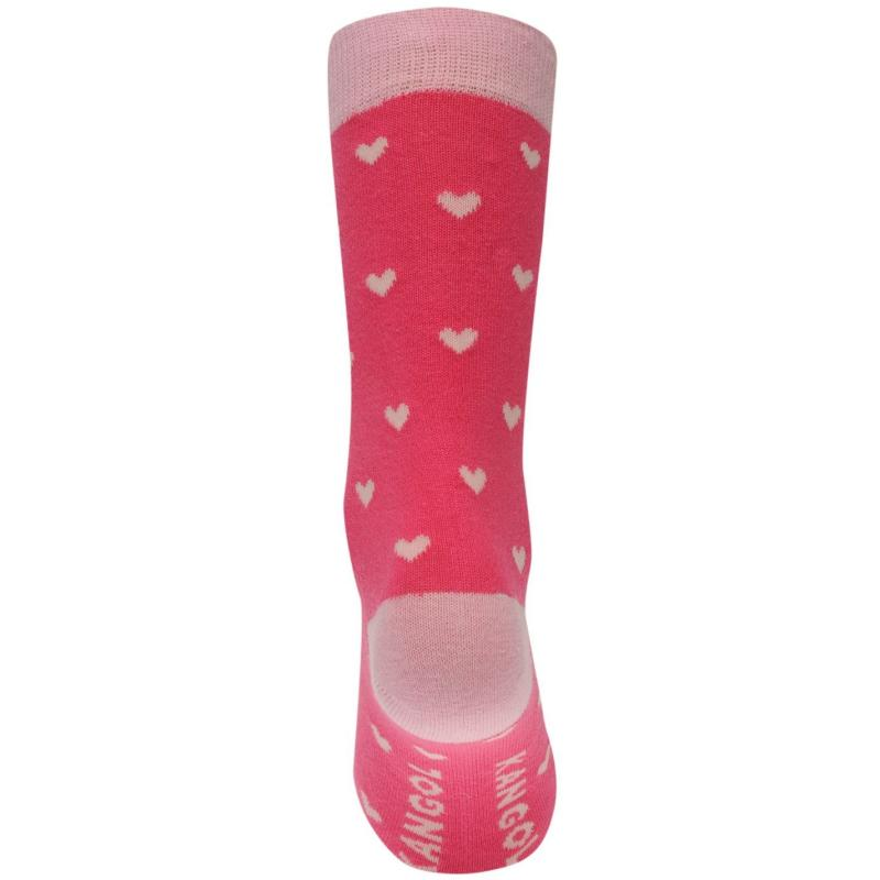 Ponožky Kangol Formal Socks 3 Pack Ladies Pink Stripe