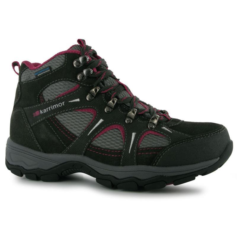 Boty Karrimor Mount Mid Ladies Walking Boots Black/Pink