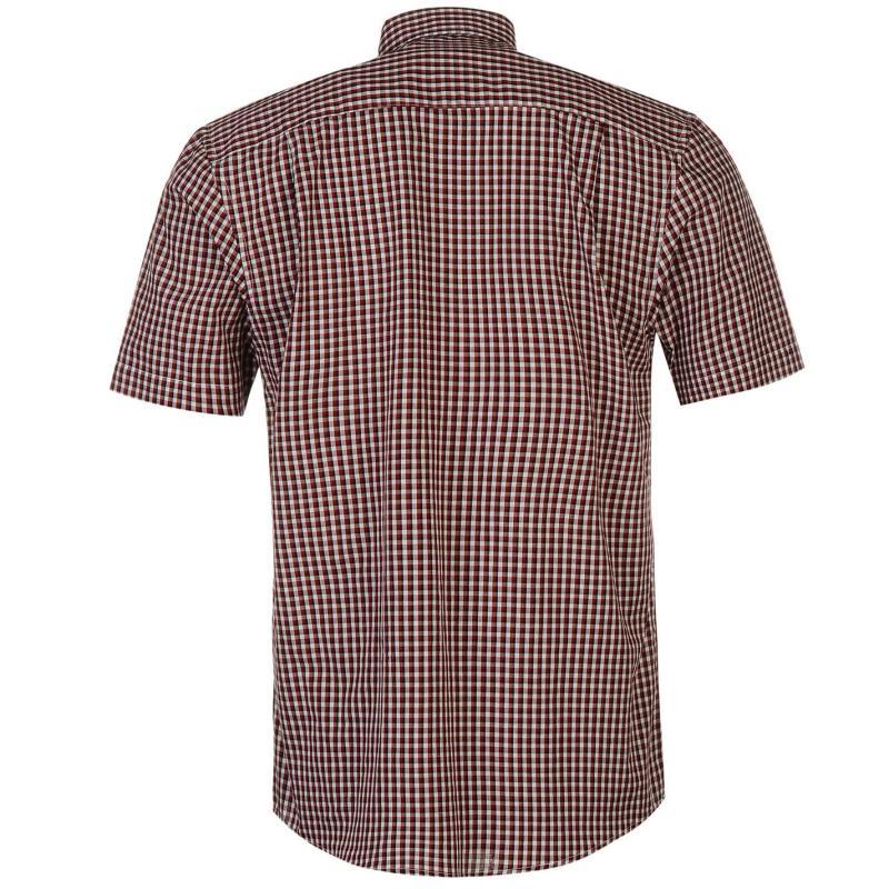 Košile Pierre Cardin Short Sleeve Shirt Mens Wht/Blu Stripe