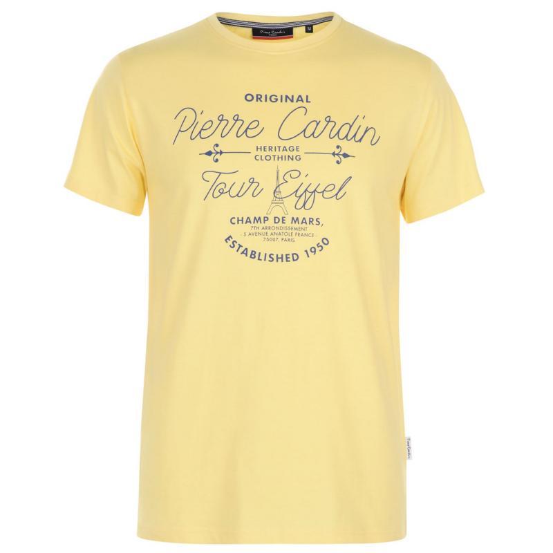 Tričko Pierre Cardin Pastel T Shirt Mens Mint