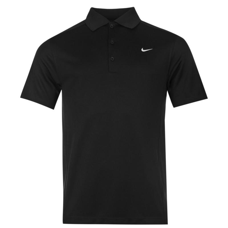 Nike Solid Polo Mens Black