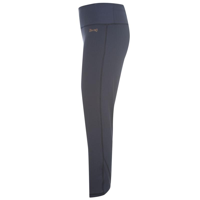 USA Pro Three Quarter Leggings Ladies Navy
