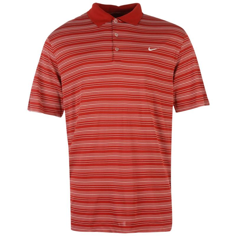 Nike Stripe Polo Top Mens Black