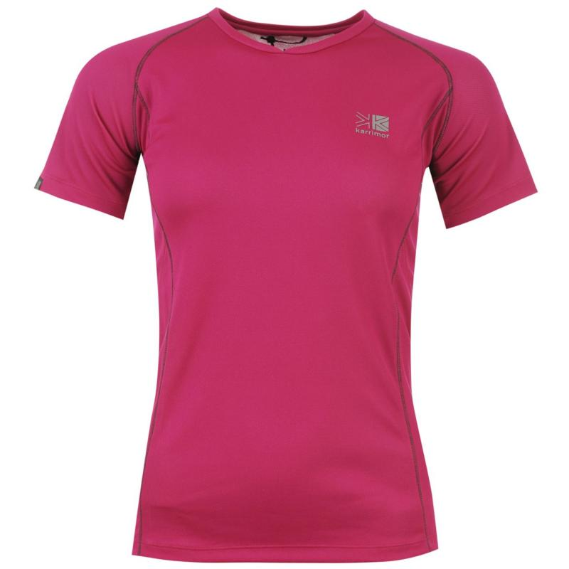 Karrimor Tech T Shirt Ladies Raspberry/Char