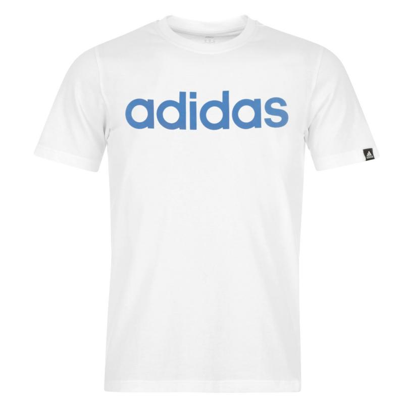Tričko adidas Linear Logo T Shirt Mens Black/SolarBlue