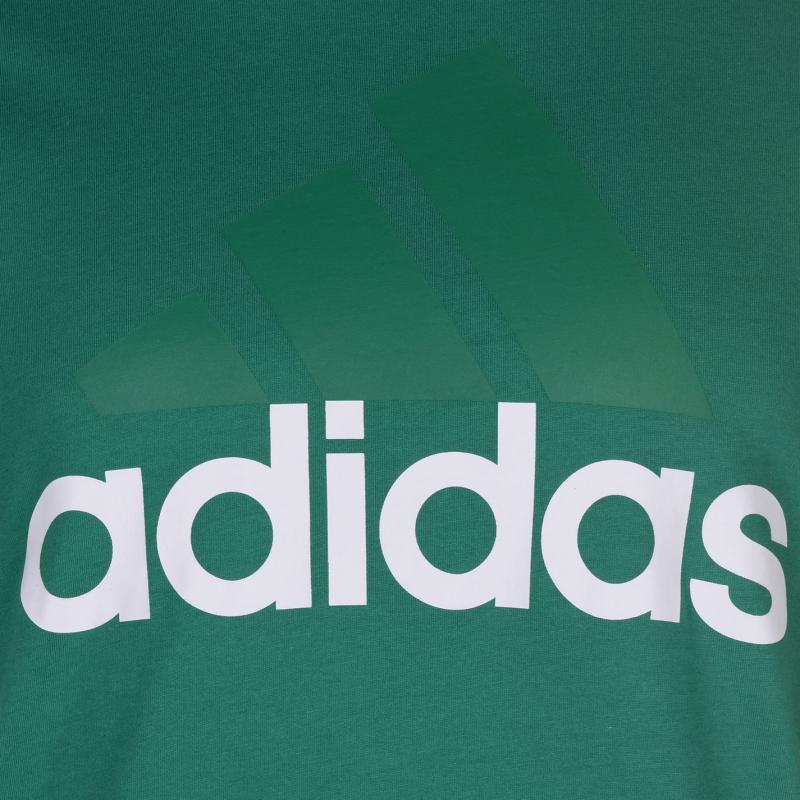 Tričko adidas Linear Logo T Shirt Mens Black/SolarBlue