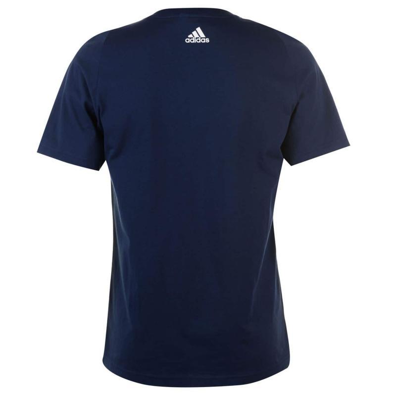 Tričko adidas Linear Logo T Shirt Mens ColNavy/White