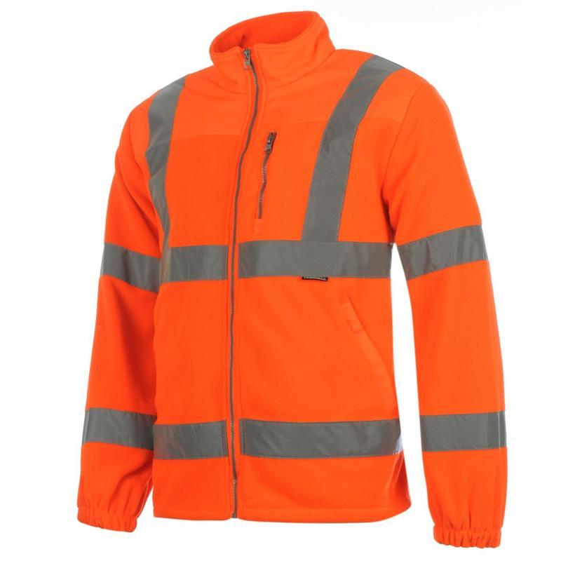 Dunlop Hi Vis Fleece Jacket Mens Orange