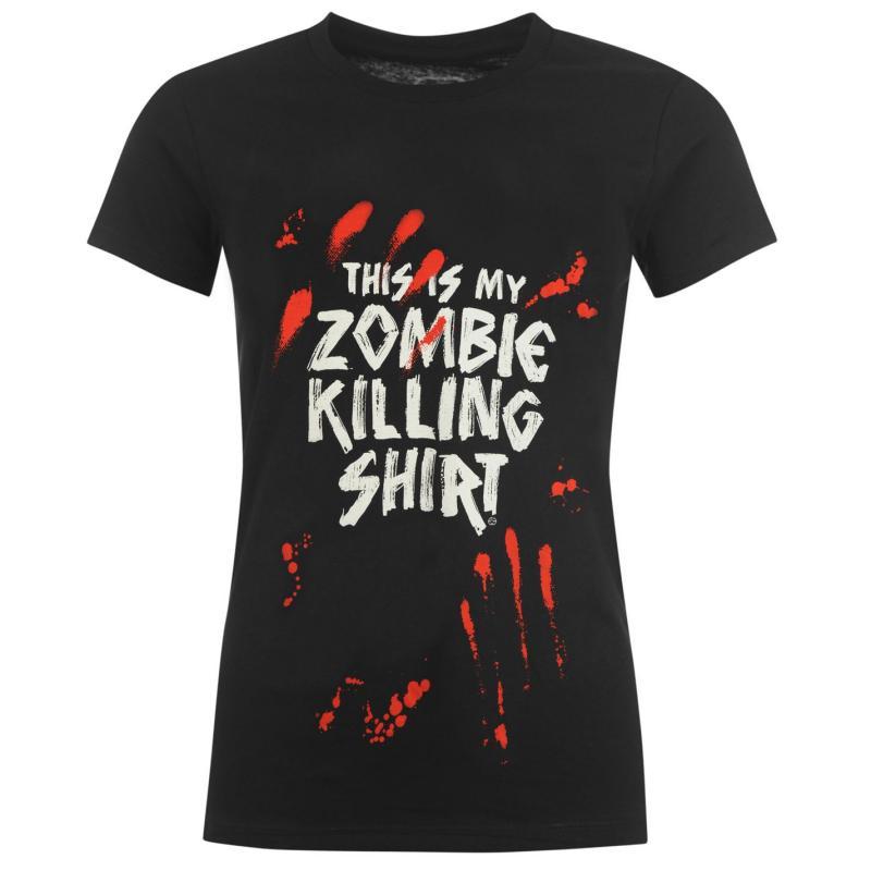 Goodie Two Sleeves T Shirt Ladies Zombie Killing