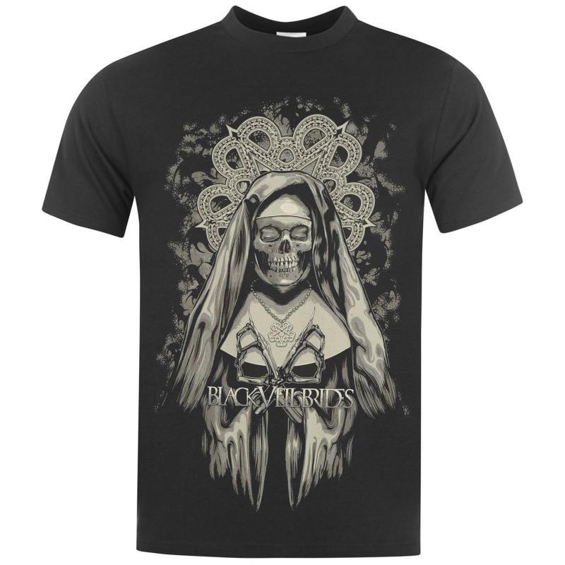 Tričko Official Black Veil Brides T Shirt Mens Etched