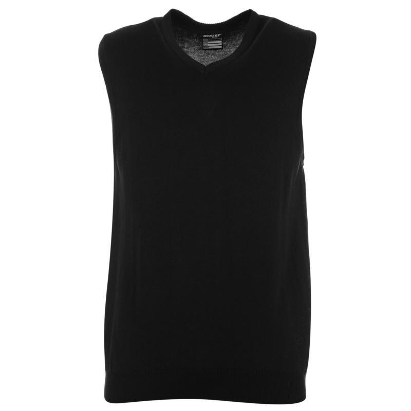 Tílko Dunlop Golf Knit Vest Mens Black