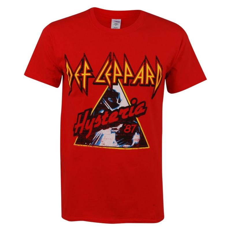 Tričko Official Def Leppard T Shirt Red Hysteria
