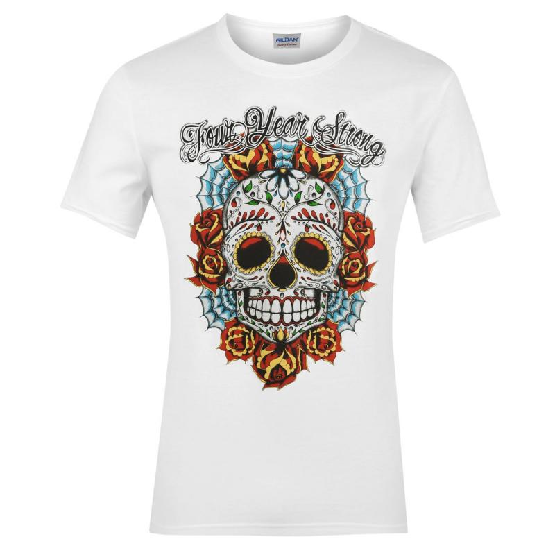 Official Four Year Strong Tshirt Mens Skull