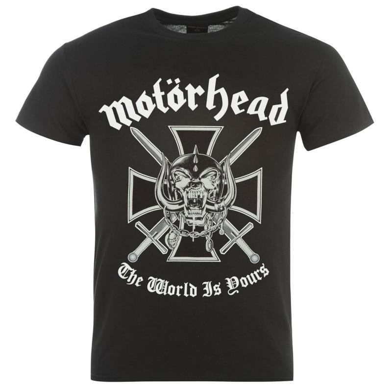Tričko Official Motorhead T Shirt Mens Iron Cross