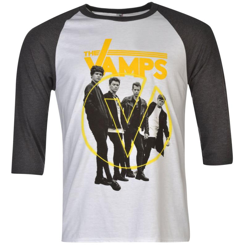 Tričko Official The Vamps Raglan T Shirt Mens Leopard