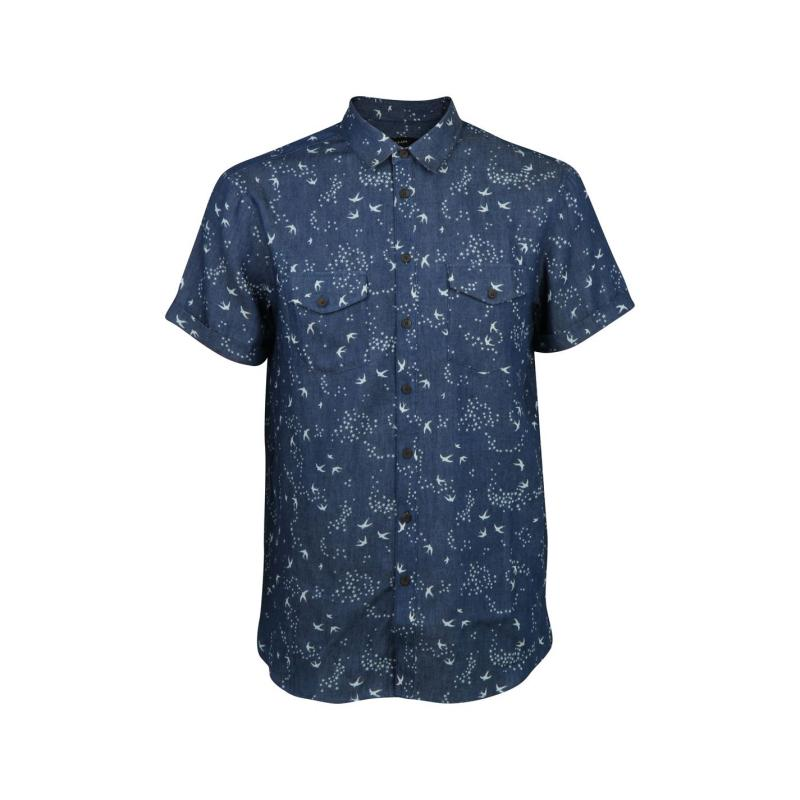 Košile Villain Dale Bird Shirt Navy