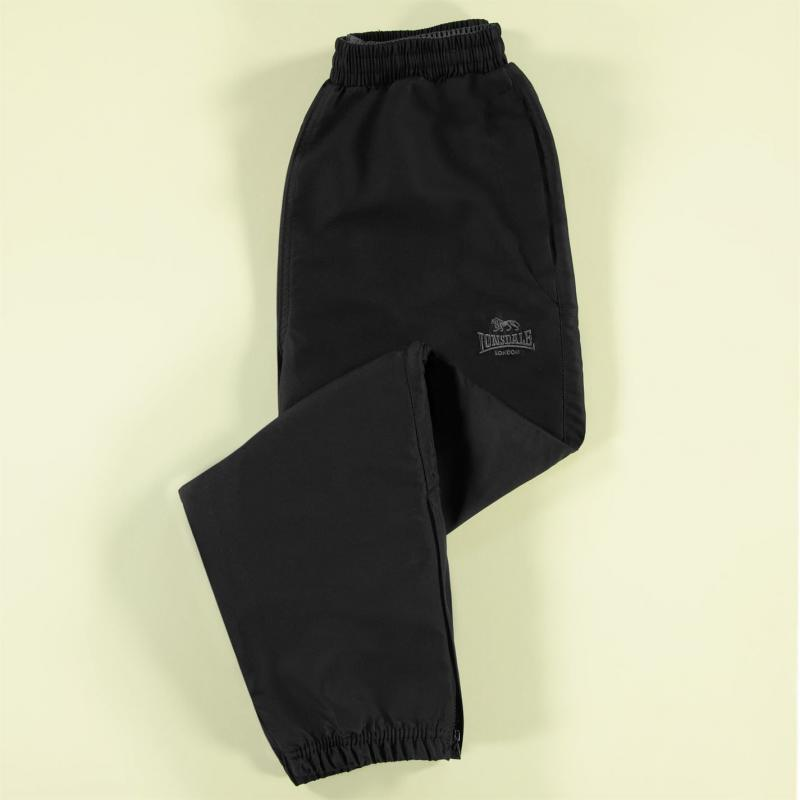 Tepláky Lonsdale Closed Hem Woven Pants Junior Boys Black