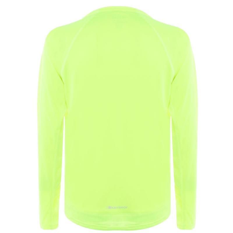 Tričko Karrimor Long Sleeved Running T Shirt Mens Blue/Dk Blue