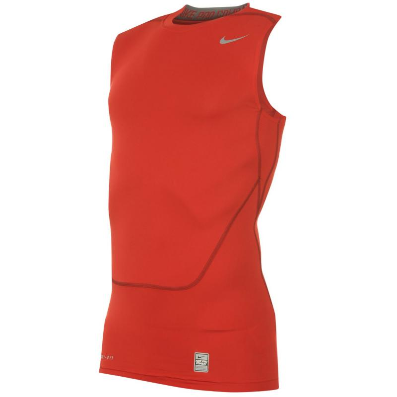 Nike Pro Core Sleeveless T Shirt Mens Red