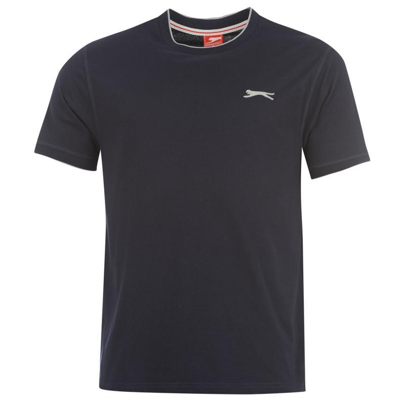 Tričko Slazenger Tipped T Shirt Mens Navy