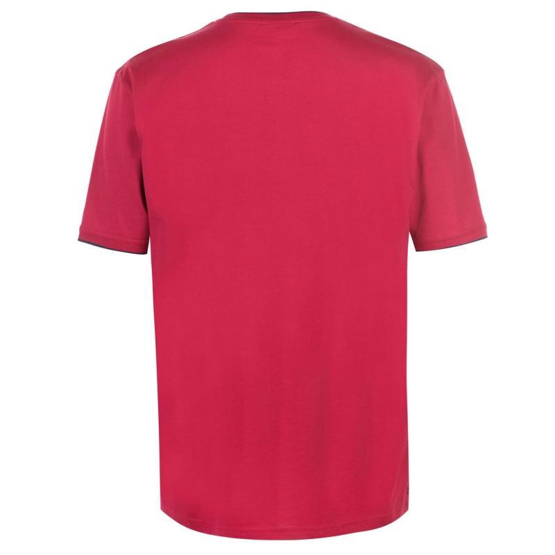 Tričko Slazenger Tipped T Shirt Mens Red