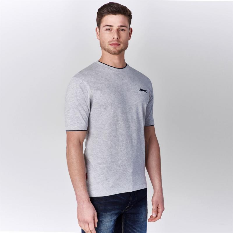 Tričko Slazenger Tipped T Shirt Mens White