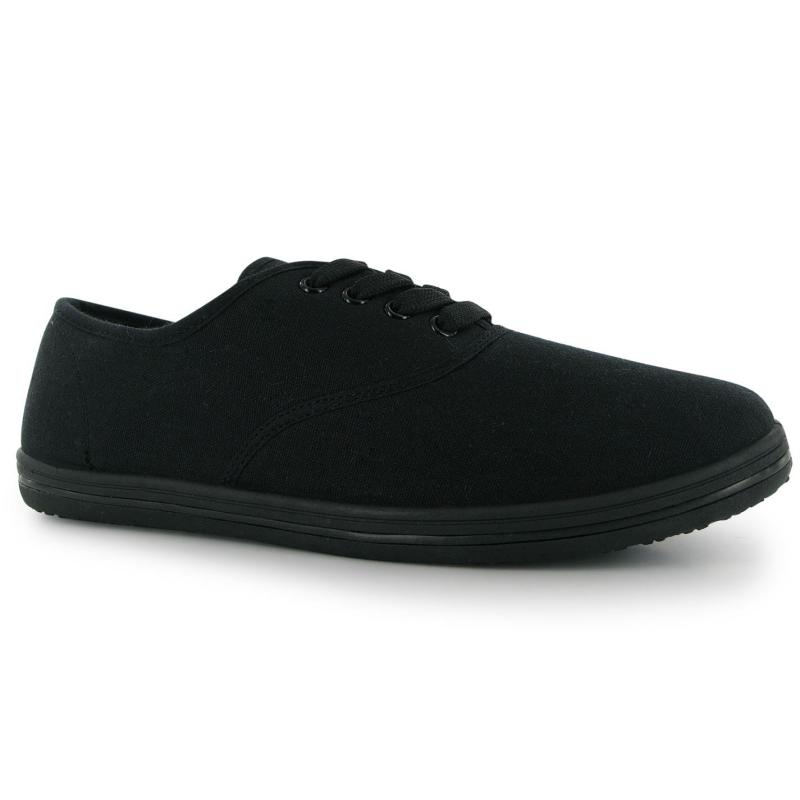 Slazenger Ladies Canvas Shoes Black