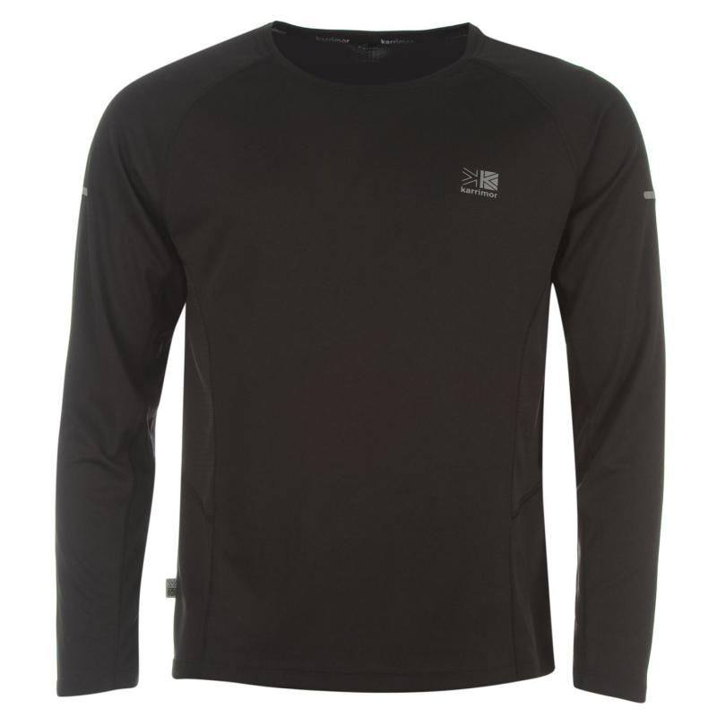 Karrimor Long Sleeved Running T Shirt Mens Black