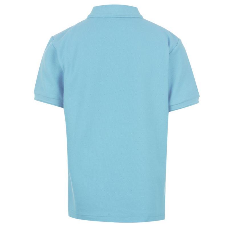 Slazenger Plain Polo Shirt Junior Sky Blue