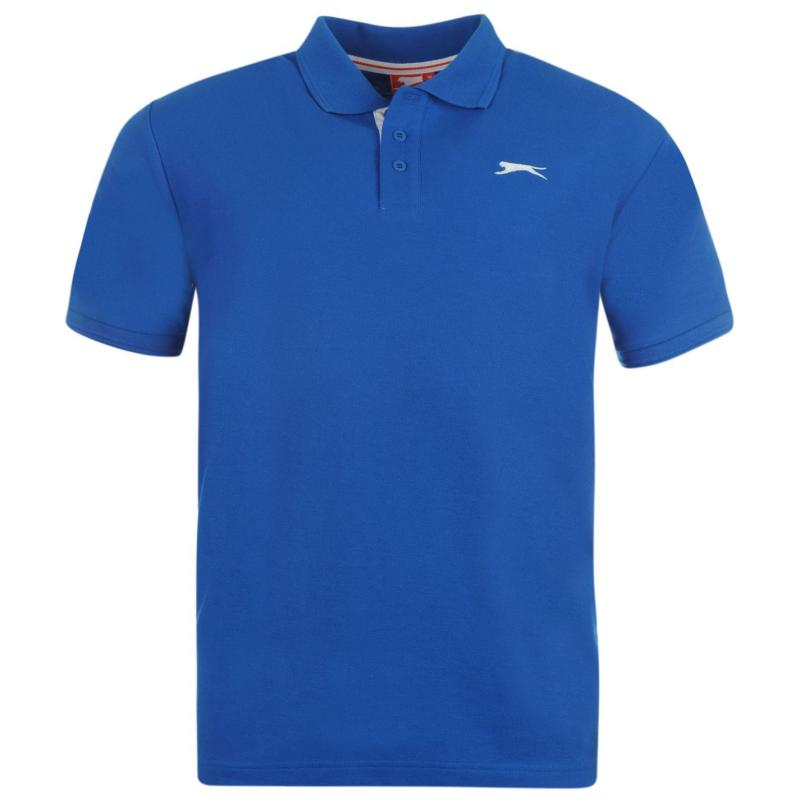 Slazenger Plain Polo Shirt Mens Royal Blue