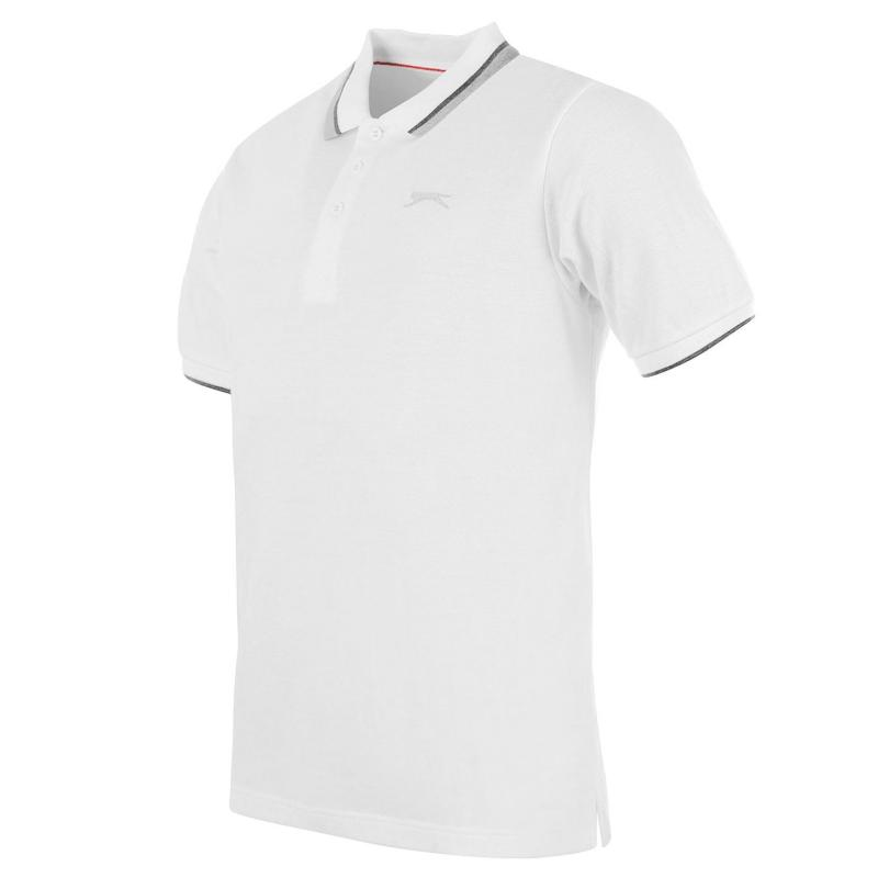 Slazenger Tipped Polo Shirt Mens Black