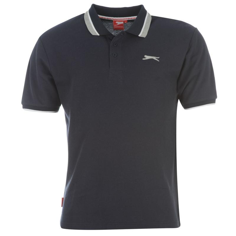 Slazenger Tipped Polo Shirt Mens Charcoal Marl