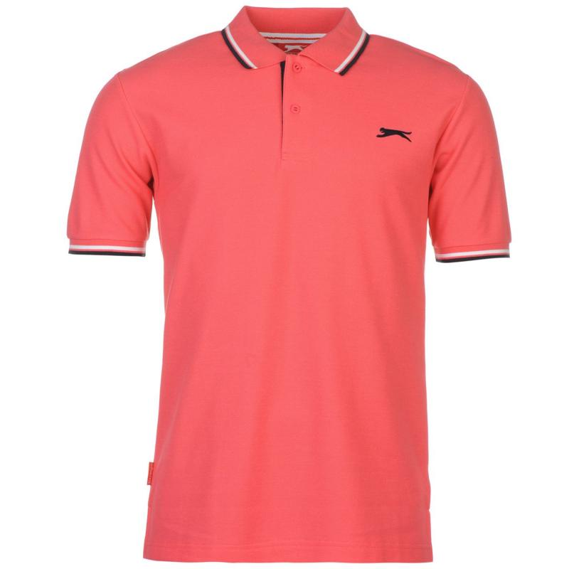 Slazenger Tipped Polo Shirt Mens Yellow