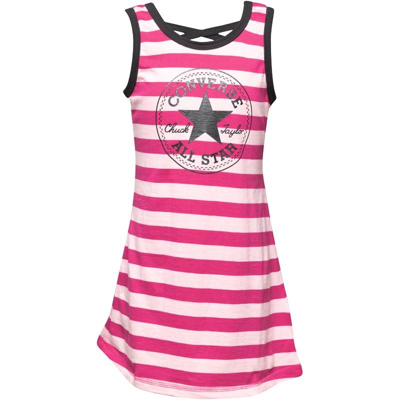 Šaty Converse Girls Knit Dress Eglantine/Mallow Purple