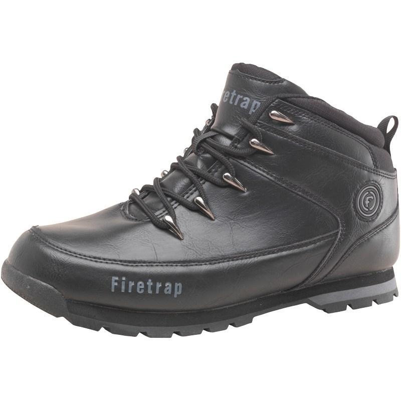 Firetrap Mens Blaze Boots Black/Graphite