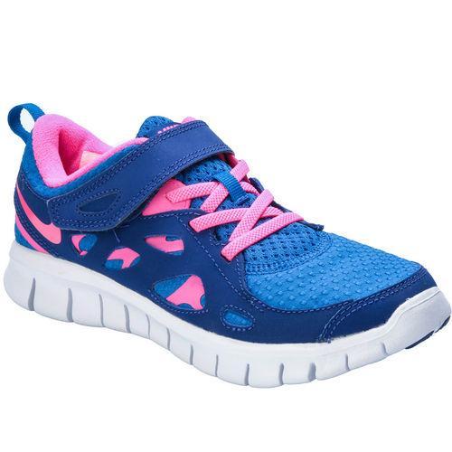 Nike Children Girls Free Run 2 Trainers Blue pink