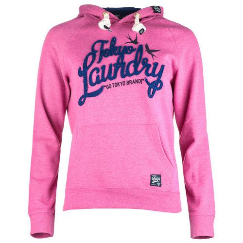 Mikina s kapucí Tokyo Laundry Womens Shelly Hoody Pink Marl