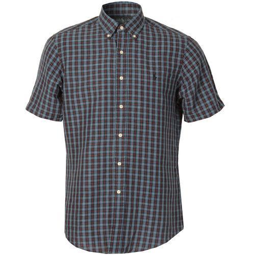 Košile Ralph Lauren Mens Custom Fit Short Sleeve Check Shirt Blue Orange